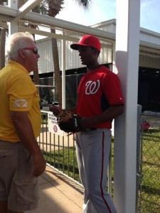 Michael Taylor and Nats staffer